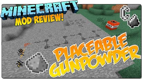 7224f  Placeable Gunpowder Mod [1.9.4] Placeable Gunpowder Mod Download
