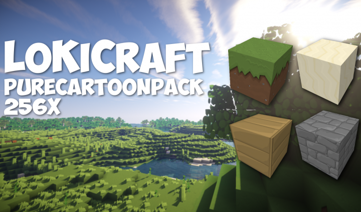 b76fa  Lokicraft purecartoon resource pack [1.9.4/1.8.9] [256x] LoKiCraft PureCartoon Texture Pack Download