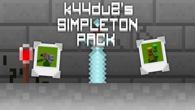 55c27  k44du2s simpleton resource pack [1.9.4/1.9] [16x] k44du2's Simpleton Texture Pack Download