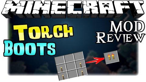 6629c  Torch Boots Mod [1.10.2] Torch Boots Mod Download