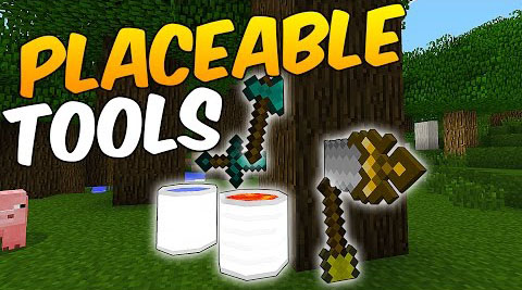 7c75a  Placeable Tools Mod [1.7.10] Placeable Tools Mod Download