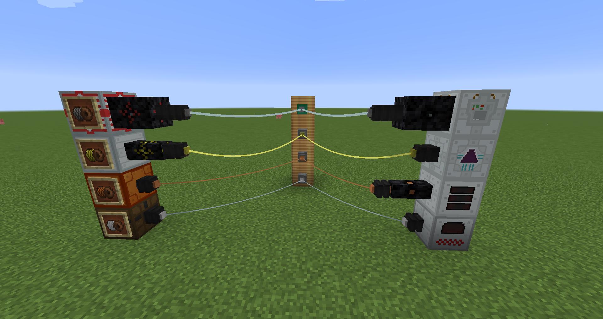 как провести электро провода в майнкрафт #7