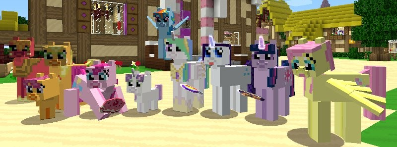 Mine Little Pony Friendship Is Crafting Mod Download - My little pony skins fur minecraft